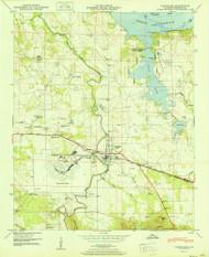 Courtland, Alabama 1951 () USGS Old Topo Map Reprint 7x7 AL Quad 303593