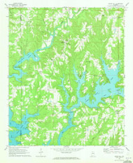Crane Hill, Alabama 1969 (1973) USGS Old Topo Map Reprint 7x7 AL Quad 303602