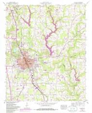 Cullman, Alabama 1957 (1985) USGS Old Topo Map Reprint 7x7 AL Quad 303622