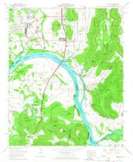 Farley, Alabama 1964 (1966) USGS Old Topo Map Reprint 7x7 AL Quad 303818