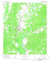 Fayette, Alabama 1967 (1968) USGS Old Topo Map Reprint 7x7 AL Quad 303821