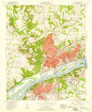 Florence, Alabama 1957 (1958) USGS Old Topo Map Reprint 7x7 AL Quad 303849