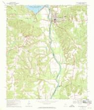 Fort Gaines, Alabama 1969 (1970) USGS Old Topo Map Reprint 7x7 AL Quad 303868