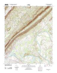 Gadsden East, Alabama 2011 () USGS Old Topo Map Reprint 7x7 AL Quad 20111003