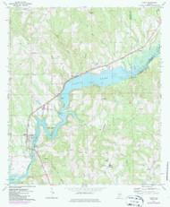Gantt, Alabama 1971 (1986) USGS Old Topo Map Reprint 7x7 AL Quad 303930