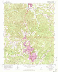 Gardendale, Alabama 1959 (1971) USGS Old Topo Map Reprint 7x7 AL Quad 303942