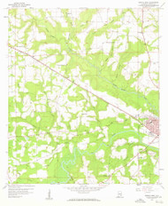 Geneva West, Alabama 1957 (1959) USGS Old Topo Map Reprint 7x7 AL Quad 303966