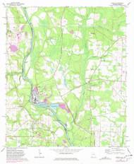 Gordon, Alabama 1970 (1981) USGS Old Topo Map Reprint 7x7 AL Quad 304008