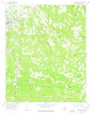 Haleyville East, Alabama 1958 (1978) USGS Old Topo Map Reprint 7x7 AL Quad 304083