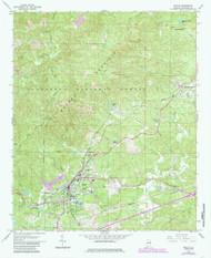 Heflin, Alabama 1967 (1985) USGS Old Topo Map Reprint 7x7 AL Quad 304129