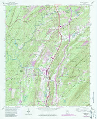 Helena, Alabama 1959 (1986) USGS Old Topo Map Reprint 7x7 AL Quad 304137