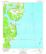 Hollingers Island, Alabama 1953 (1964) USGS Old Topo Map Reprint 7x7 AL Quad 304172