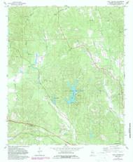 Lake Lurleen, Alabama 1978 (1987) USGS Old Topo Map Reprint 7x7 AL Quad 304353