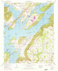 Langston, Alabama 1947 (1972) USGS Old Topo Map Reprint 7x7 AL Quad 304374