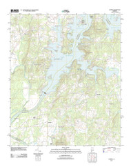 Laniers, Alabama 2011 () USGS Old Topo Map Reprint 7x7 AL Quad 20110921