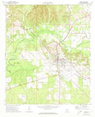 Linden, Alabama 1970 (1973) USGS Old Topo Map Reprint 7x7 AL Quad 304420
