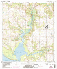 Magnolia Springs, Alabama 1980 (1986) USGS Old Topo Map Reprint 7x7 AL Quad 304468