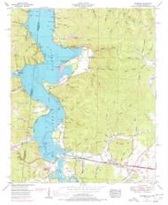 Margerum, Alabama 1953 (1977) USGS Old Topo Map Reprint 7x7 AL Quad 304490
