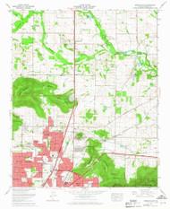 Meridianville, Alabama 1964 (1968) USGS Old Topo Map Reprint 7x7 AL Quad 304542