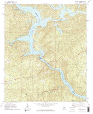 Mitchell Dam, Alabama 1971 (1973) USGS Old Topo Map Reprint 7x7 AL Quad 304570