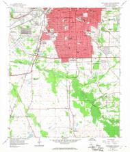 Montgomery South, Alabama 1958 (1968) USGS Old Topo Map Reprint 7x7 AL Quad 304595