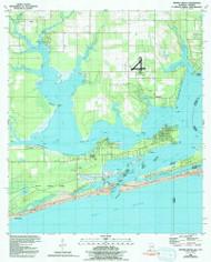 Orange Beach, Alabama 1980 (1992) USGS Old Topo Map Reprint 7x7 AL Quad 304753
