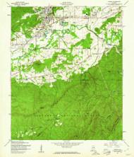 Oxford, Alabama 1956 (1960) USGS Old Topo Map Reprint 7x7 AL Quad 304762
