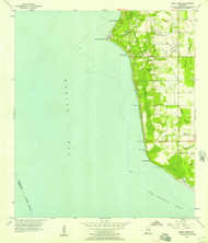 Point Clear, Alabama 1956 (1956) USGS Old Topo Map Reprint 7x7 AL Quad 304873