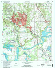 Prattville, Alabama 1981 (1981) USGS Old Topo Map Reprint 7x7 AL Quad 304894