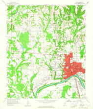 Selma, Alabama 1958 (1964) USGS Old Topo Map Reprint 7x7 AL Quad 305023
