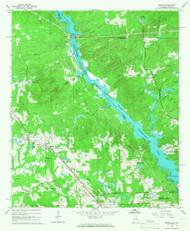 Smiths, Alabama 1965 (1967) USGS Old Topo Map Reprint 7x7 AL Quad 305066