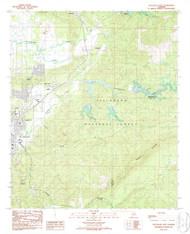 Sylacauga East, Alabama 1987 (1987) USGS Old Topo Map Reprint 7x7 AL Quad 305151