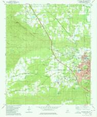 Sylacauga West, Alabama 1980 (1980) USGS Old Topo Map Reprint 7x7 AL Quad 305153