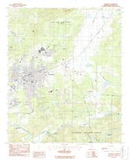 Talladega, Alabama 1987 (1987) USGS Old Topo Map Reprint 7x7 AL Quad 305163