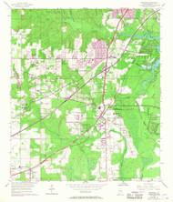 Theodore, Alabama 1953 (1968) USGS Old Topo Map Reprint 7x7 AL Quad 305192