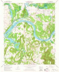 Triana, Alabama 1964 (1965) USGS Old Topo Map Reprint 7x7 AL Quad 305236