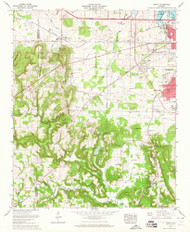 Trinity, Alabama 1963 (1965) USGS Old Topo Map Reprint 7x7 AL Quad 305244