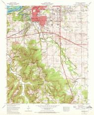 Tuscumbia, Alabama 1971 (1972) USGS Old Topo Map Reprint 7x7 AL Quad 305255