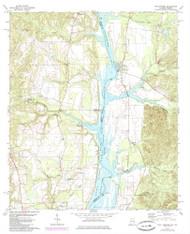 Twin Springs, Alabama 1973 (1985) USGS Old Topo Map Reprint 7x7 AL Quad 305264