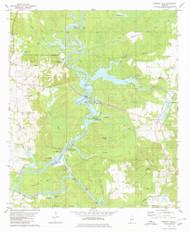 Warrior Dam, Alabama 1980 (1980) USGS Old Topo Map Reprint 7x7 AL Quad 305333