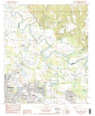 Willow Springs, Alabama 1987 (1987) USGS Old Topo Map Reprint 7x7 AL Quad 305392