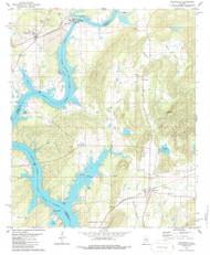 Wilsonville, Alabama 1980 (1986) USGS Old Topo Map Reprint 7x7 AL Quad 305393