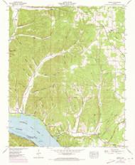 Wright, Alabama 1953 (1973) USGS Old Topo Map Reprint 7x7 AL Quad 305411