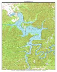 Cave Run Lake  1975 - Custom USGS Old Topographic Map - Kentucky