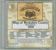 Map of the County of Berkshire,  Massachusetts, 1858, CDROM Old Map