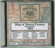 Map of the County of Bristol, Massachusetts, 1858, CDROM Old Map