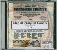 Map of Franklin County, Massachusetts, 1858, CDROM Old Map