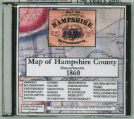 Map of the County of Hampshire, Massachusetts, 1860, CDROM Old Map