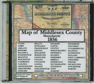 Map of Middlesex County, Massachusetts, 1856, CDROM Old Map