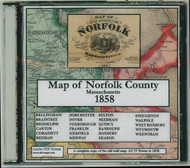 Map of the County of Norfolk, Massachusetts, 1858, CDROM Old Map